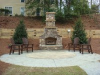 Backyard fireplace ideas - large and beautiful photos ...