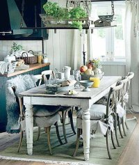 Painted dining table ideas - large and beautiful photos ...