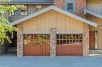 Replace garage door with french doors