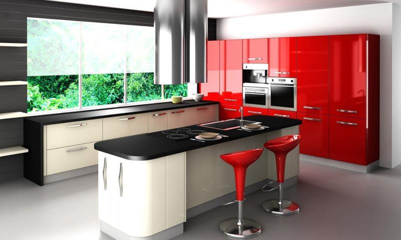 27 Thiết kế nhà bếp màu đỏ hoàn toàn tuyệt vời-13