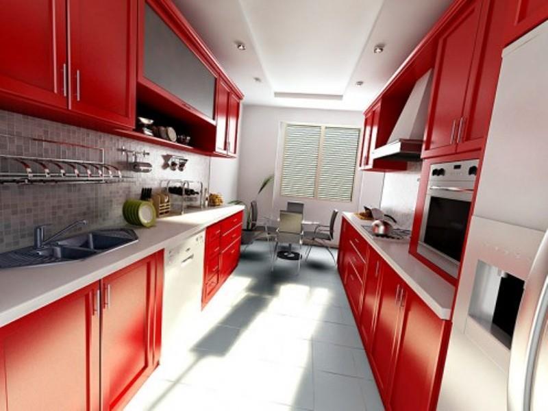 27 Thiết kế nhà bếp màu đỏ hoàn toàn tuyệt vời-27