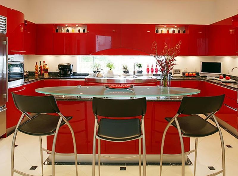27 Thiết kế nhà bếp màu đỏ hoàn toàn tuyệt vời-3