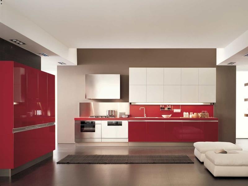27 Thiết kế nhà bếp màu đỏ hoàn toàn tuyệt vời-8