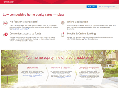 The lender will also want a copy of your credit report and information on all of your debts and liabilities. Bank of America Home Equity Line of Credit