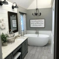 +40 What To Do About Farmhouse Bathroom Ideas Joanna Gaines 00019