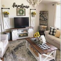 32 Best Farmhouse Living Room TV Stand Design Ideas 11