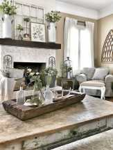 DIY Fall Living Room Decoration With Fireplace Ideas0010