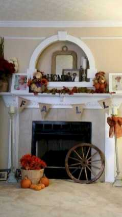 DIY Fall Living Room Decoration With Fireplace Ideas0020
