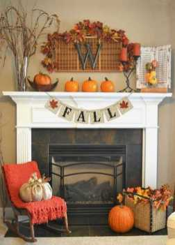 DIY Fall Living Room Decoration With Fireplace Ideas0021