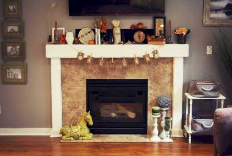 DIY Fall Living Room Decoration With Fireplace Ideas0023