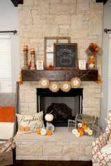 DIY Fall Living Room Decoration With Fireplace Ideas0025