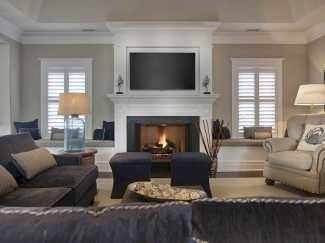 DIY Fall Living Room Decoration With Fireplace Ideas0026