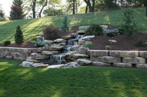 Wall Waterfall Outdoor Fountain Kits0012