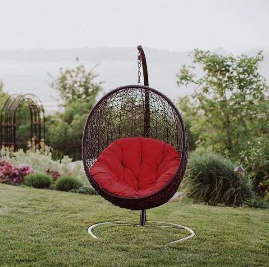 Hanging Outdoor Egg Chair With Stand