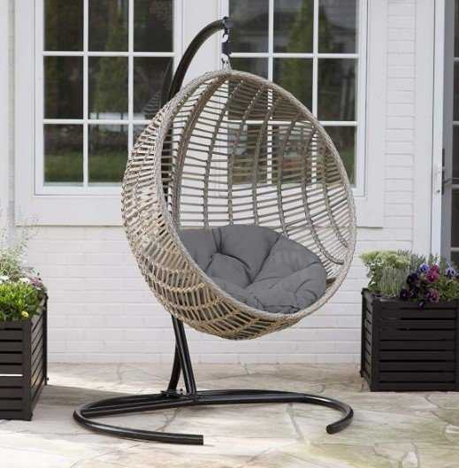 Hanging Woven Wicker Rattan Chair