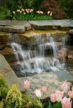 A Beautiful Waterfall By Several Layers