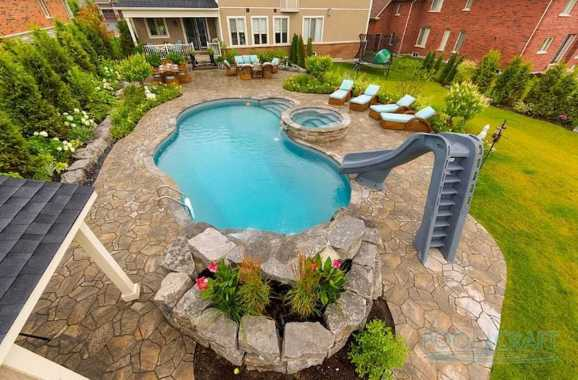 Beautiful Garden Area Featuring A Custom Pool