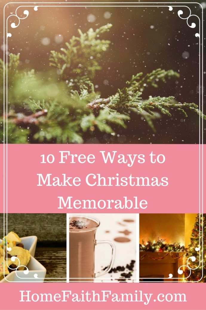 Trying to get away from the commercialization of Christmas? Here are 10 free ways to make Christmas memorable, and focus on the true meaning of Christmas. Click to read.