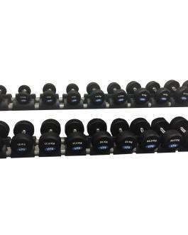 Serie Vaste Halters 2,5 Kg – 25 Kg Rubber