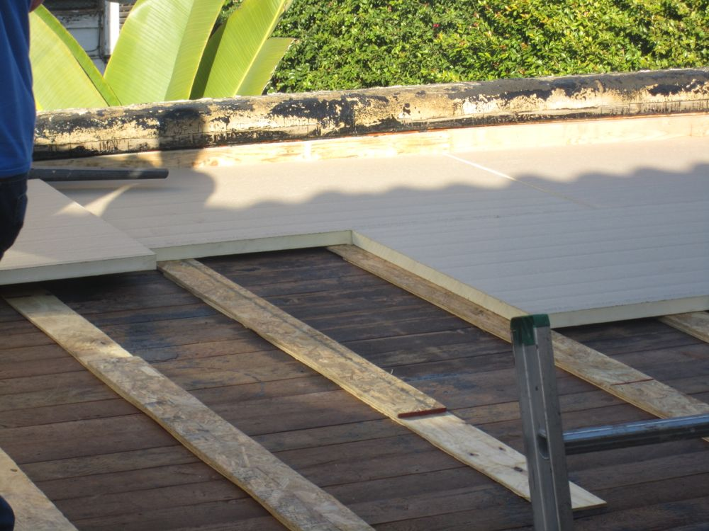 Flat Roof Insulation With Rigid Foam Board How To