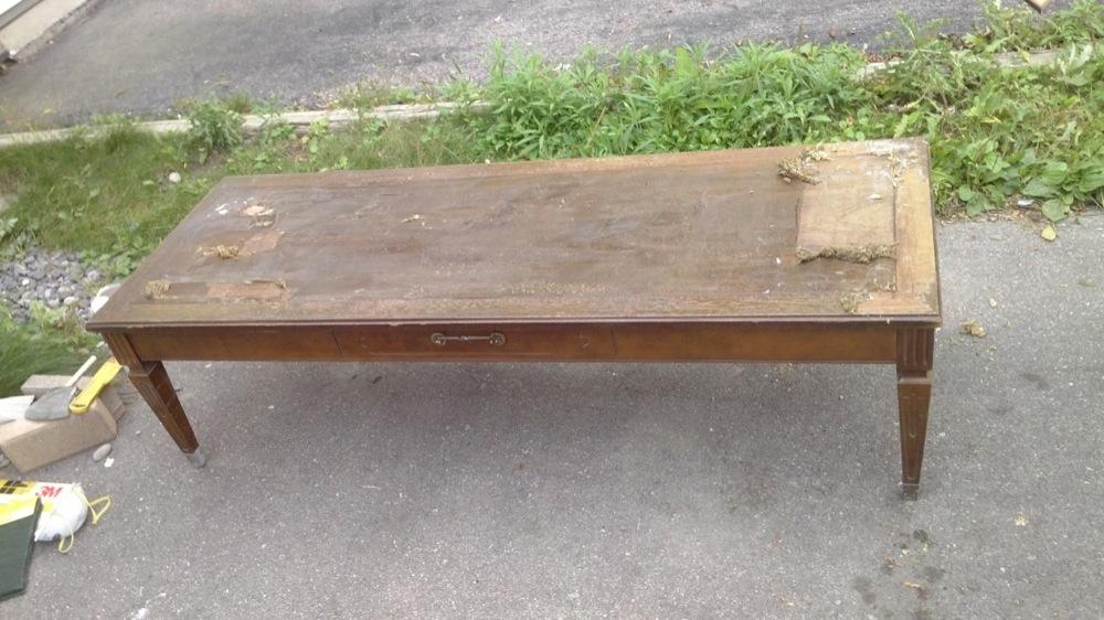 vintage coffee table restoration ideas