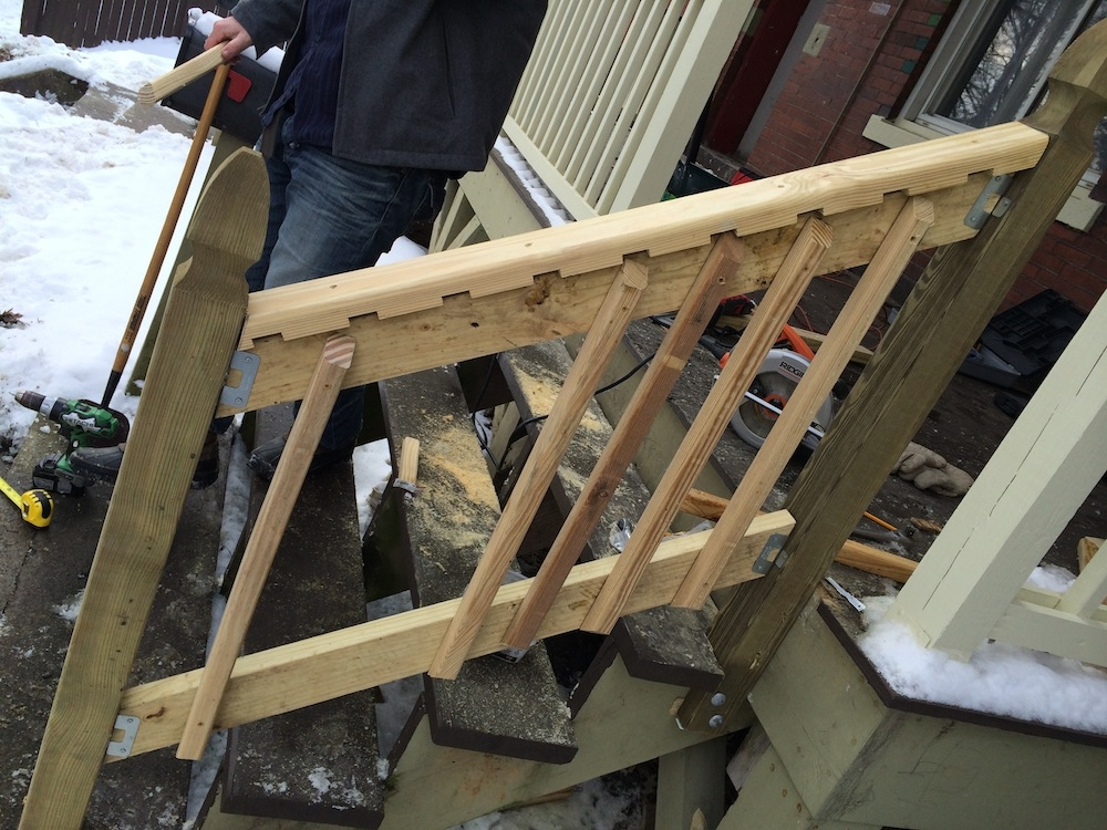 How To Build A Handrail For Your Porch Safer Stairs In 3 Hours | Diy Deck Stair Railing | Easy | Outdoor | Aircraft Cable | House | Simple