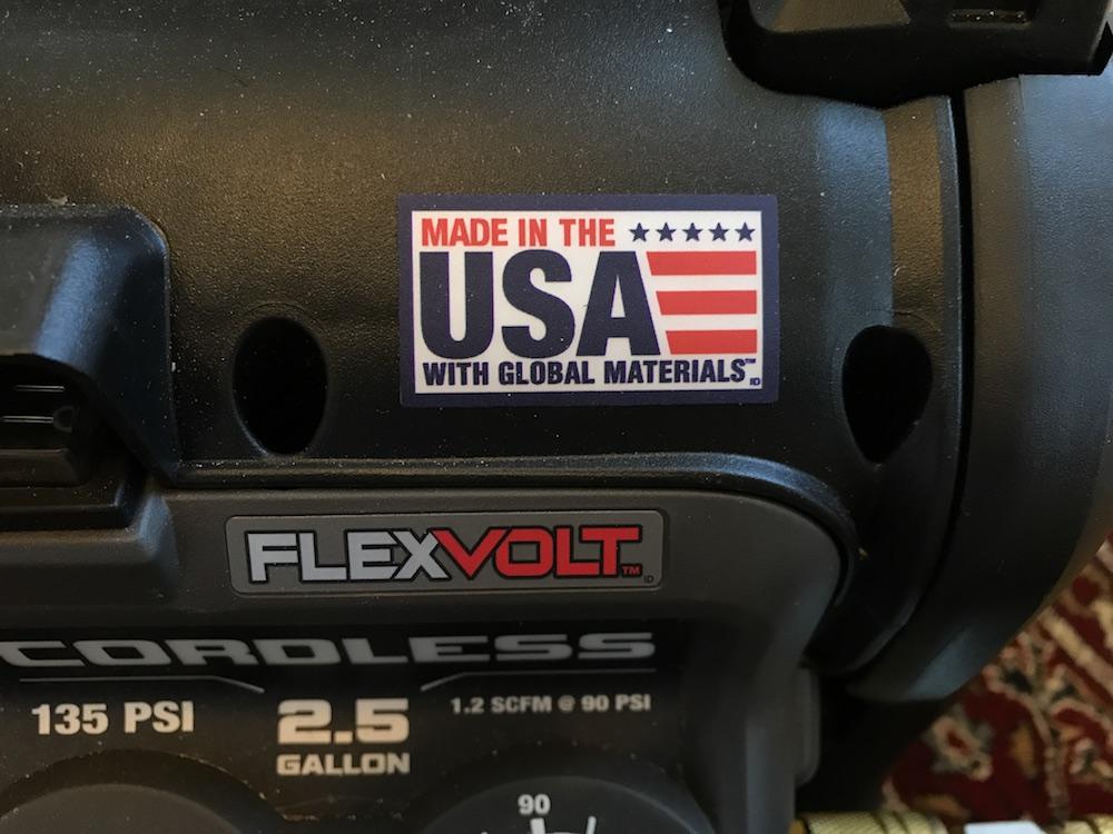 dewalt flexvolt compressor