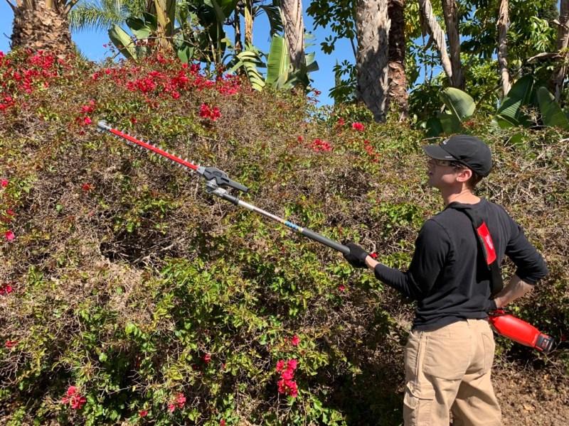 milwaukee quick-lok hedge trimmer