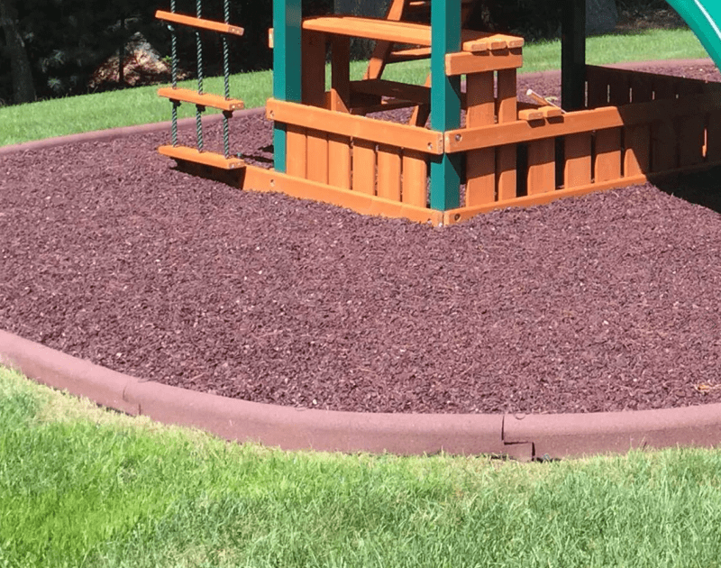 rubber mulch curb