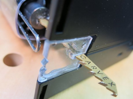 The splinterguard does a great job preventing sloppy splintering and tear-out