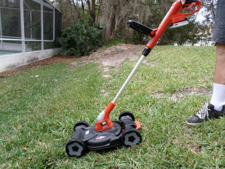 Tiny mower, weed trimmer or driveway edger? You decide