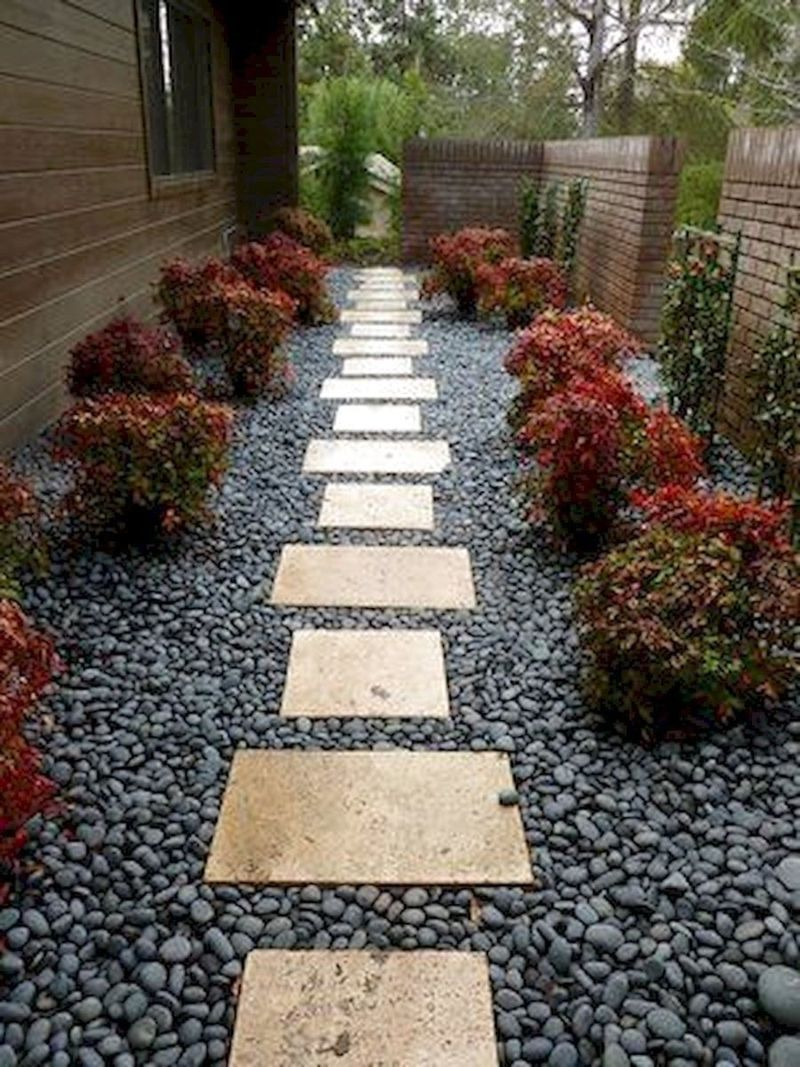 40 Easy and Cheap Side Yard Landscaping Design Ideas ... on Side Yard Designs id=79189