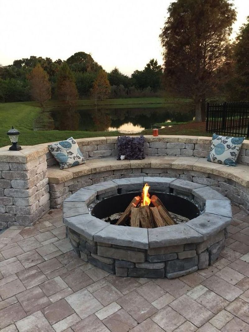 35 Super Easy DIY Fire Pit for Backyard Design - Homeflish