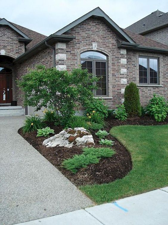 33 Simple Modern Front Yard Landscaping Ideas - Homeflish on Simple Backyard Landscaping id=68023