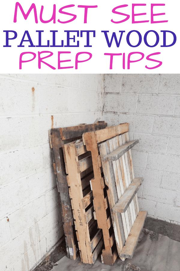 DIY Pallet Wood Prep