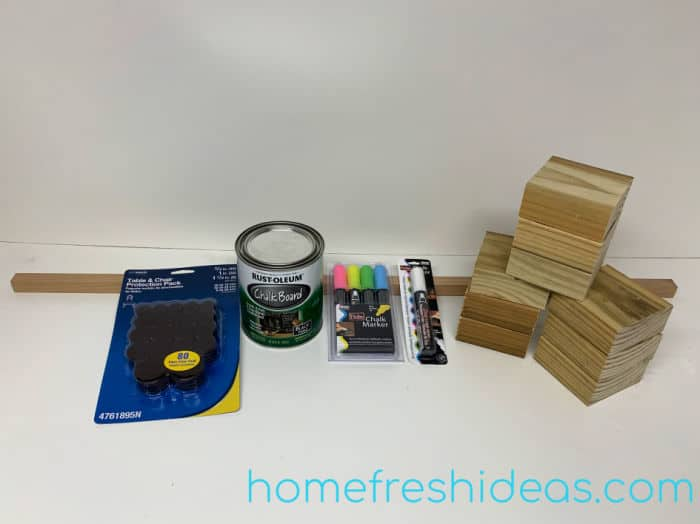 Wooden Tic Tac Toe Game - Supplies to make game