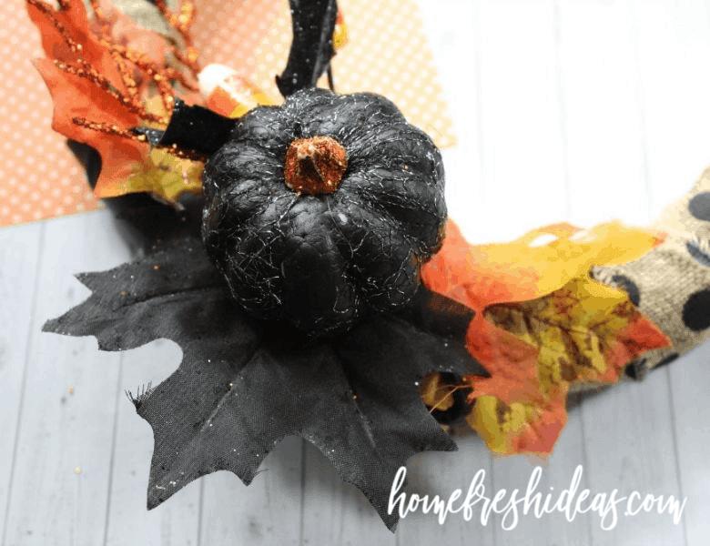 fall wreath on table