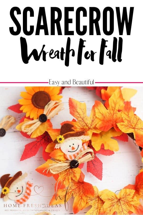 Scarecrow Wreath - Pin Image