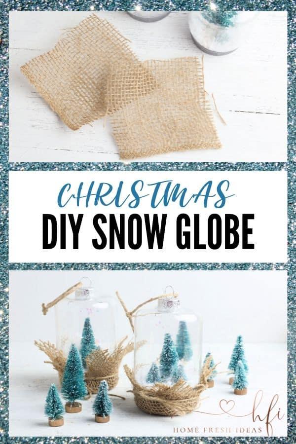 DIY Christmas Snow Globe - PIN Image