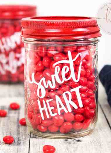 jars with candy for valentine's day