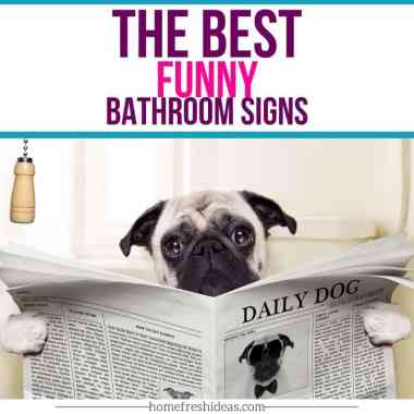 The Best Funny Bathroom Signs - We have found the Best Funny Bathroom Signs for your home or office. Everyone will get a chuckle out of these hilarious signs! #bathroom #decor #signs #funny #hilarious #decorations #home #homefreshideas