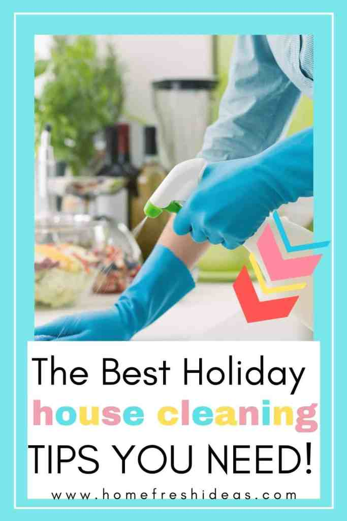 The Best Holiday House Cleaning Tips For The Kitchen - Check out the Best Holiday House Cleaning Tips For The Kitchen to have your home in shape for guests. Save your sanity and get organized. #cleaning #kitchen #housecleaning #easy #tips #holidays #homefreshideas