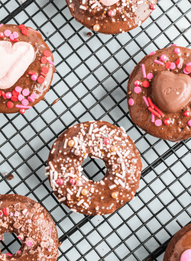several baked donuts