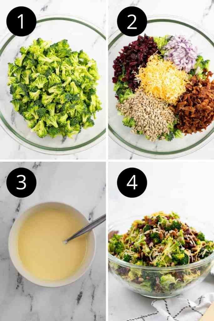 steps on how to make a broccoli salad