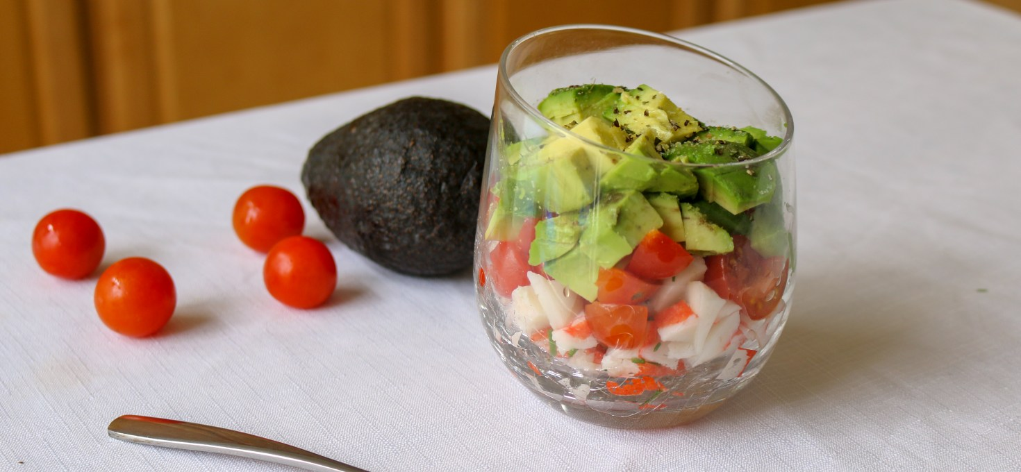 Layered Crab Salad