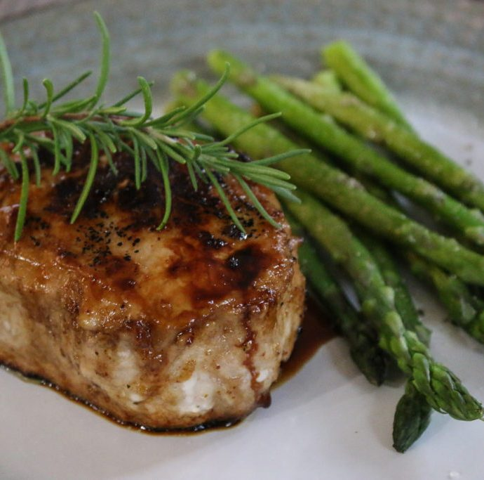 Seared Maple Balsamic Pork Chops