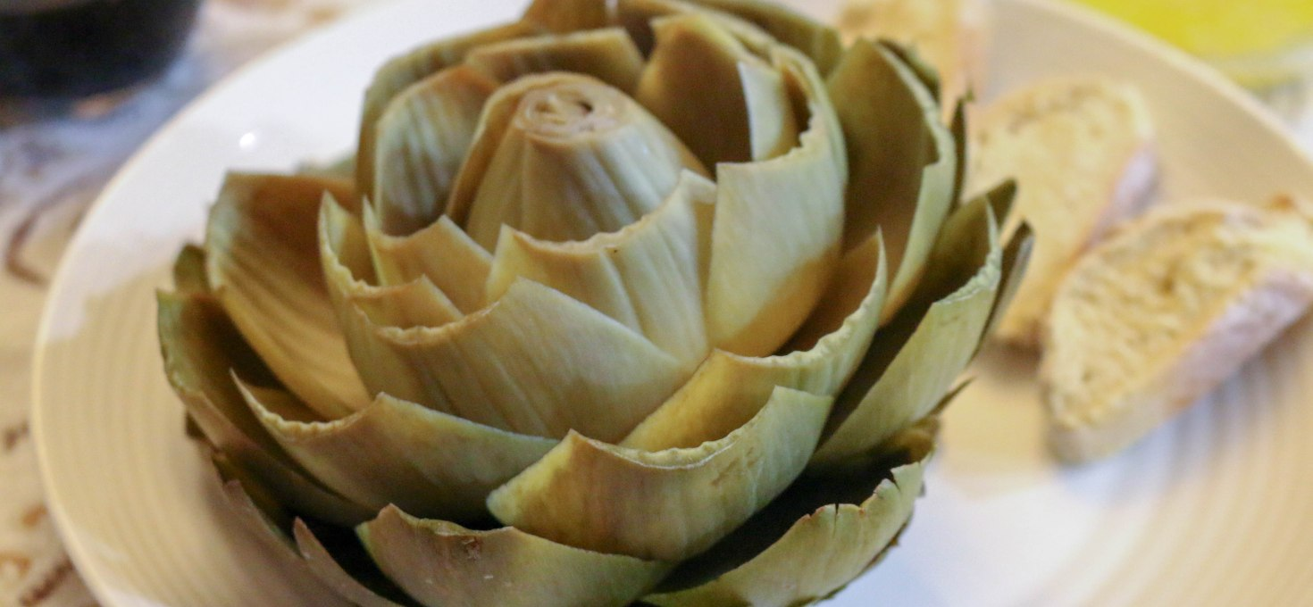 Steamed Artichokes with Lemon Garlic Butter