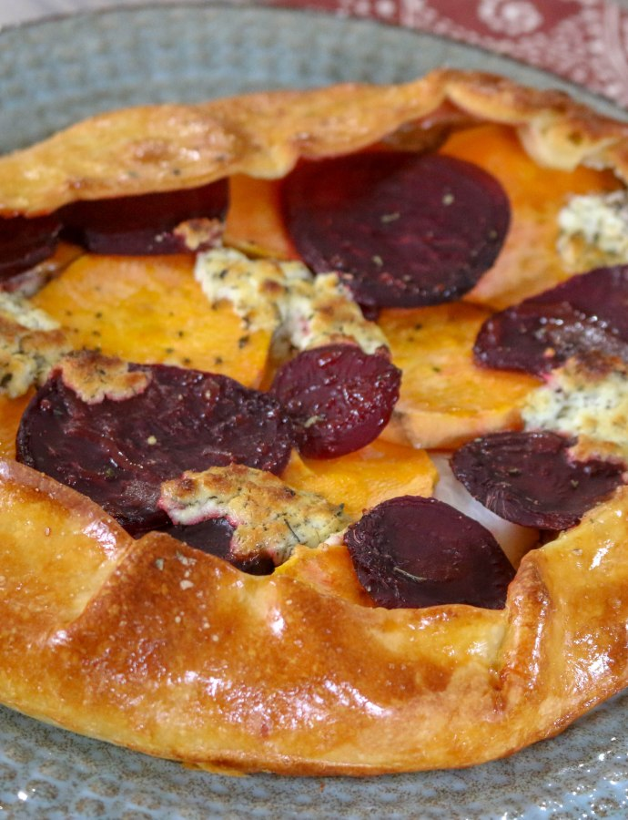 Herbed Goat Cheese & Root Vegetable Galette