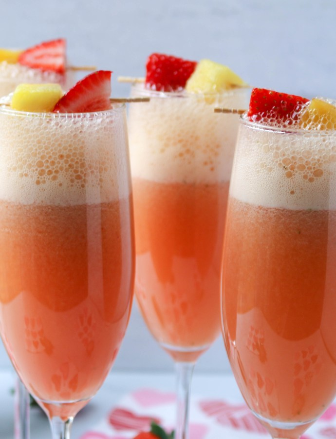 Sweet Strawberry Mimosas