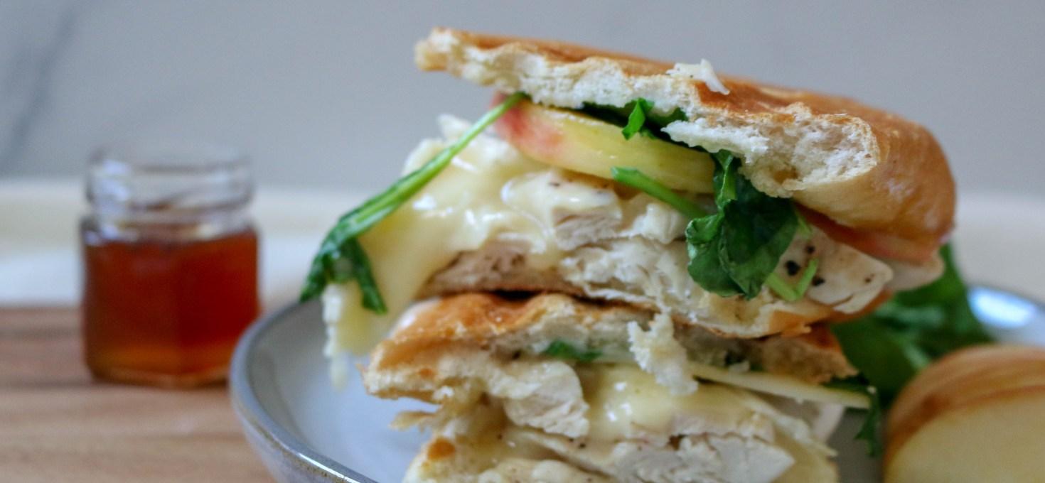 Chicken Apple Brie Panini Sandwich